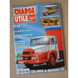Charge Utile n°60, Unic V8, Poclain 1000, Compagnie Normande d'Autobus, Guinard, Pluviaud
