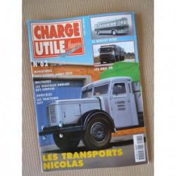 Charge Utile n°62, Unic V8, Sift TL2, Berliet PLH8, Nicolas Brioude, Duteil-Arnauné