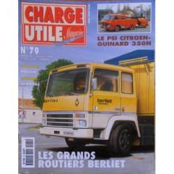 Charge Utile n°79, Berliet GR TR, Poclain, scrapers, Berliet Renault PR100, Amar