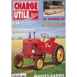 Charge Utile n°84, Massey-Harris, 2.5t Galion, électrique 39-45, Caterpillar D9, Saviem E7, Amar