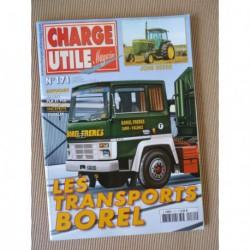 Charge Utile n°171, Citroën taxi, camions IH, John Deerre, Berliet PLA PLB, Borel, Valerian, Jean Merlin