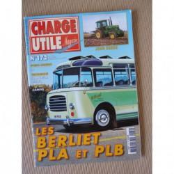 Charge Utile n°172, camions IH, John Deerre, Berliet PLA PLB, Camiva, Becquet, Jean Merlin