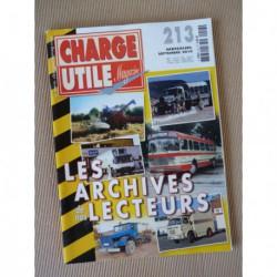 Charge Utile n°213, moissonneuses, Citroën FOM, Berliet PR100, Lacroix