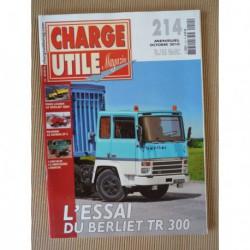 Charge Utile n°214, Berliet TR300, Unimog, Saviem SP5, Berliet GBH, Haulotte, Genin-Viallon, Landry Brivin & Cie, Boner