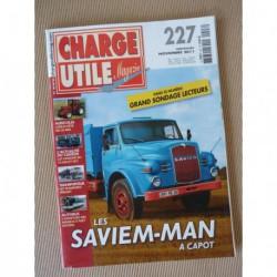 Charge Utile n°227, Saviem-Man, Unimog, Case-IH, Haulotte, Hummer, minibus, Pinguet, Boner