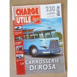 Charge Utile n°230, Saviem-Man, IH 2+2, tombereaux DJB, Di Rosa, Tab, Boner