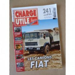 Charge Utile n°241, Fiat, Claeys New Holland, Peugeot P4, Foden, Cipierre, VCOM au VLRA, Vallas