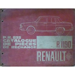 catalogue de pi ces renault 8 gordini type r1135. Black Bedroom Furniture Sets. Home Design Ideas