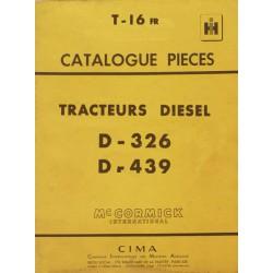 McCormick D-326, D-439, catalogue de pièces