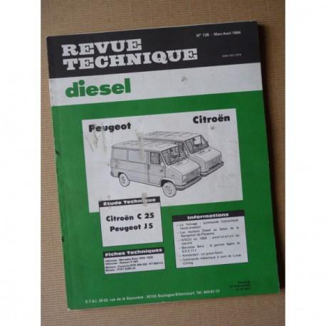rtd citro n c25 peugeot j5 diesel u25 651 661. Black Bedroom Furniture Sets. Home Design Ideas