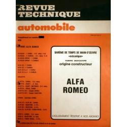 Temps de réparation Alfa Romeo années 80 et 90