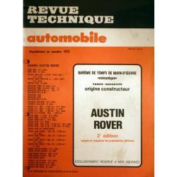 Temps de réparation gamme Austin Rover années 80 et 90
