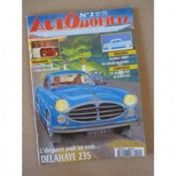 Automobilia n°2, Delahaye 235, Amilcar Compound, Peugeot 204, Antem, Peugeot 402B