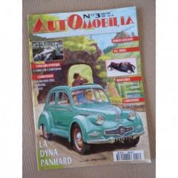 Automobilia n°3, Panhard Dyna X, Simca 1000 Rallyes, Amilcar Compound, Antem