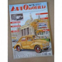 Automobilia n°5, Renault Frégate, Amilcar Compound, Antem, Delage D8S