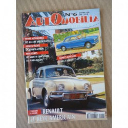 Automobilia n°6, Rosengart Supertraction, Peugeot 404, Amilcar Bertrand, Vermorel, Mathis 666, Renault USA, Racer 500