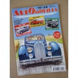 Automobilia n°14, Talbot Lago-Record, Simca, Pourtout, Hino Contessa, Peugeot rallyes africains