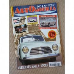 Automobilia n°19, Simca 8 Sport, Renault 40cv, Grégoire Sport, Jaguar en France, Panhard 24 rallye