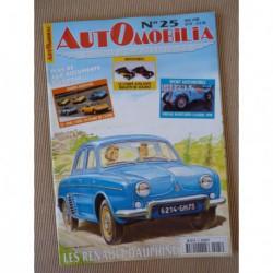 Automobilia n°25, Renault Dauphine, Grégoire R, Opel GT 1900, concour SIA, Citroën 2cv
