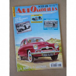 Automobilia n°27-28, Simca 9 Aronde, Citroën Taction, Peugeot 402, Skoda, Tatra