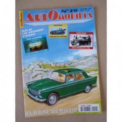 Automobilia n°29, Peugeot 404, Jidé, les 6cv, AFG, Simca Vedette 58-61