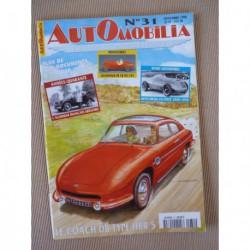 Automobilia n°31, Panhard DB HBR5, Monica, AFG, hybrides, Simca Aronde P60, Hotchkiss sport