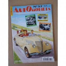Automobilia n°37, Renault Primaquatre, CG, Packard, Plan Pons, Citroën Ami 6, Chenard au Mans