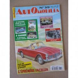 Automobilia n°39, Facel Vega Facellia, René Maltord, Citroën 60-74, Rolls Bentley Franay, Jaguar XK, Marcadier