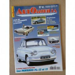 Automobilia n°41, Panhard PL17 17, Bouffort, Renault Dauphine, Bentley, Buick Riviera, CG
