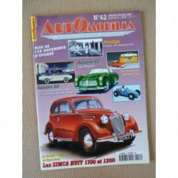Automobilia n°42, Simca 8, Pegaso, Franay, Gordini