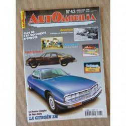 Automobilia n°43, Citroën SM, Rolland-Pilain, Tucker, Etoile Filante Renault, Simca Aronde