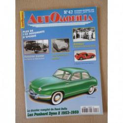 Automobilia n°47, Panhard Dyna Z, Rolland-Pilain, Ardex, Buick, microcars français