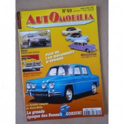 Automobilia n°49, Renault 8 Gordini, Jacques Rousseau, Citroën Heuliez, Chapron, Hudson, Alfa Romeo 1900