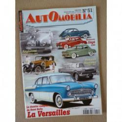 Automobilia n°51, Simca Vedette 55-57, Renault Rambler, Georges Irat, Triumph TR, Bristol