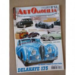 Automobilia n°53, Delahaye 175, Renault Prairie, 2cv spéciales, Oldsmobile