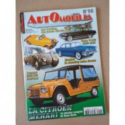 Automobilia n°56, Citroën Méhari, Peugeot 302 402 Darl'Mat, 4cv spéciales, Humber, Tatra T603