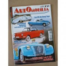 Automobilia n°61, Citroën 2cv spéciales, Panhard Dynamic, Simca Heuliez, Citroën SM, BMW 700, Peter Collins