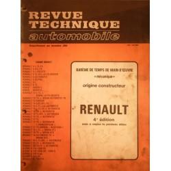 Temps de réparation Renault années 80 et 90 (4éme édition)