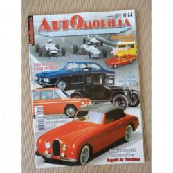 Automobilia n°64, Bugatti, Ford, Bugatti 101, Hillman Imp, Alfa Romeo 2000 2600, Trophées d'Auvergne