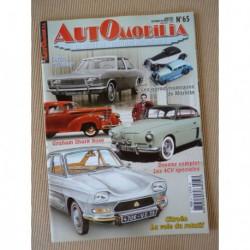 Automobilia n°65, Renault 4cv spéciales, Chrysler 160 et 180, Citroën rotatif, Ford, Graham Shark