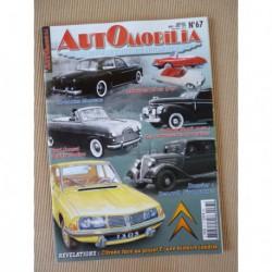 Automobilia n°67, Renault Vivaquatre, Hotchkiss Monceau Agay, Citroën F, Graham Shark, Ford Consul Zephyr Zodiac mk1