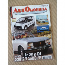 Automobilia n°70, Peugeot 204 304, Benjamin, Ford Consul Zephyr Zodiac mk2, Rolls-Royce Silver Ghost