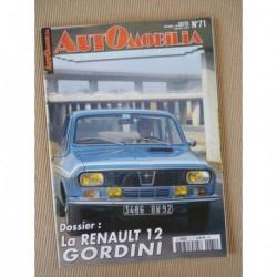 Automobilia n°71, Renault 12 Gordini, Bentley Continental, Skoda 440 à Felicia, César Marchand
