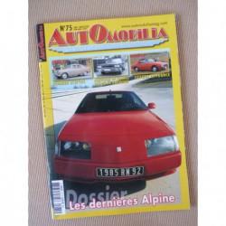 Automobilia n°75, Alpines A310 GTA A610, Dumont Céres, Humber Sceptre, Toyota, Robert Manzon, gazogène