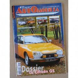 Automobilia n°77, Citroën GS, Jean Panhard, Marquez Huit, Glas 2600 3000 V8, Lincoln Zephyr
