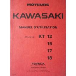 Kawasaki KT12, KT15, KT17, KT, notice d'entretien