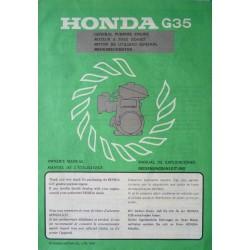 Honda G35, notice d'entretien