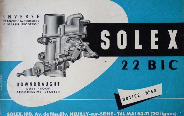 carburateur solex 22 bic
