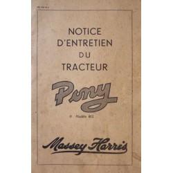 Massey Harris Pony 812, notice d'entretien