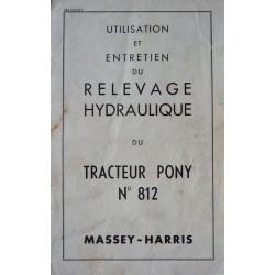 Relevage Massey-Harris Pony 812, notice d'entretien
